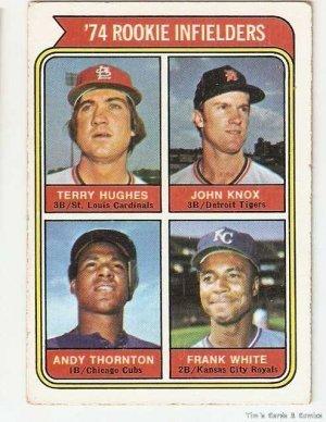 1974 topp's rookie infielders #604