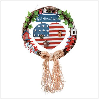 GOD BLESS AMERICA WREATH #32345