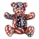 PATRIOTIC PATCHWORK BEAR BANK #33824