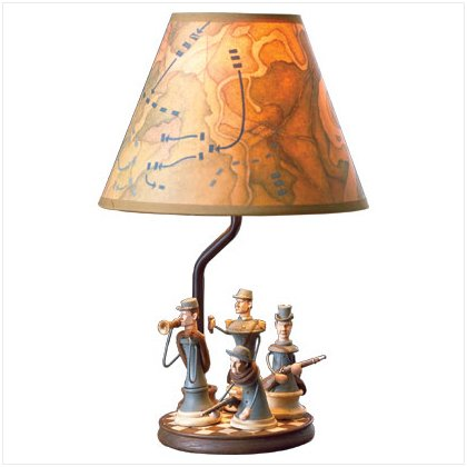 CIVIL WAR SOLDIER LAMP #	37627