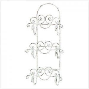 DISTRESSED WHITE TOWEL HOLDER #33588