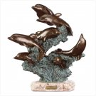 LEAPING DOLPHINS SCULPTURE  #  27251