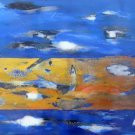 Abstract Seascape Landscape Dominican Puerto Rico Cuban Mexican French Art GACY