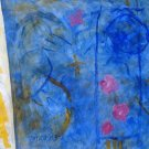 Painting Abstract Naive Caribbean Folk Modern Art RD Cuban Puerto Rico MATOS