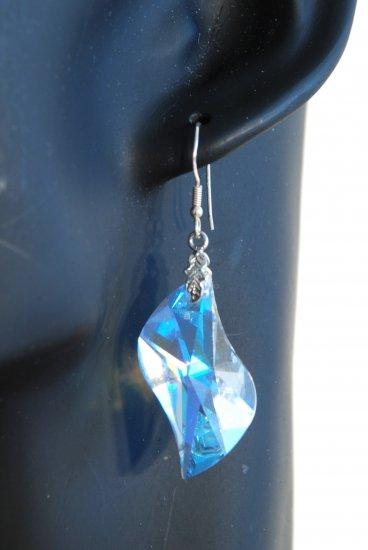 Designer fashion, bridal, prom crystal earrings jewelry, Swarovski Crystal Blue Shade - EAR 0001