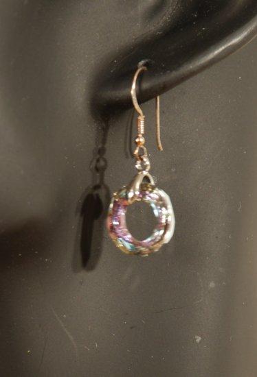 Designer fashion, bridal, prom crystal earrings jewelry, Swarovski Crystal Volcano - EAR 0004