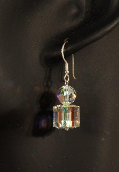 Designer fashion, bridal, prom crystal earrings jewelry, Swarovski Crystal AB - EAR 0032