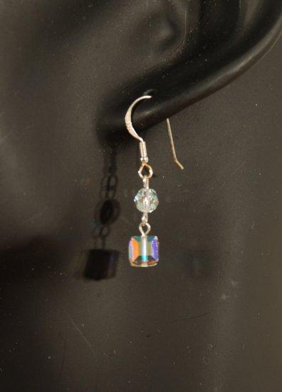 Designer fashion, bridal, prom crystal earrings jewelry, Swarovski Crystal AB - EAR 0034