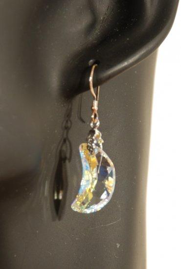 Designer fashion, bridal, prom crystal earrings jewelry, Swarovski Crystal AB - EAR 0039