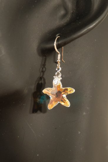 Designer fashion, bridal, prom crystal earrings jewelry, Swarovski Crystal AB - EAR 0042