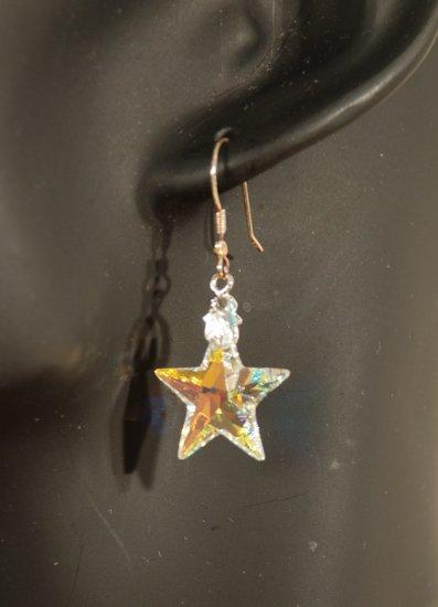 Designer fashion, bridal, prom crystal earrings jewelry, Swarovski Crystal AB - EAR 0043
