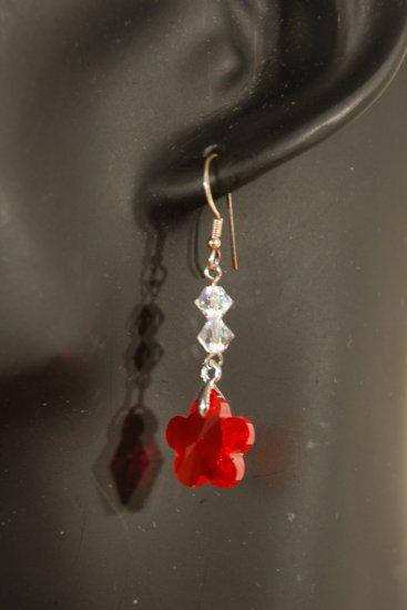 Designer fashion, bridal, crystal earrings jewelry, Swarovski Crystal AB & Light Siam - EAR 0044