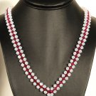 Designer fashion, bridal, crystal necklace jewelry, Swarovski Crystal Moonlight & Ruby - NEC 0029