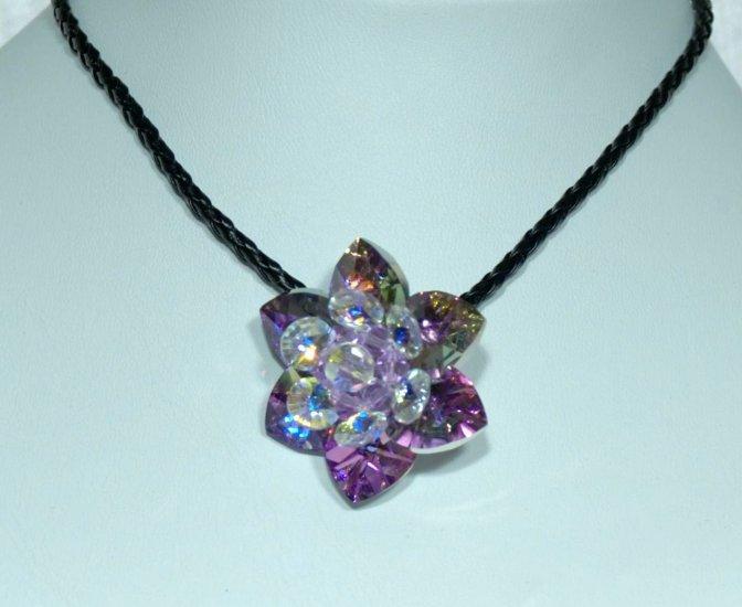 Designer fashion, bridal, jewelry, Swarovski Crystal AB / Vitrail Light - PEN 0005
