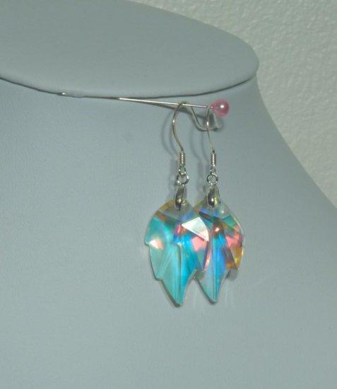 Designer fashion, bridal, crystal earrings jewelry, Swarovski Crystal AB - EAR 0063