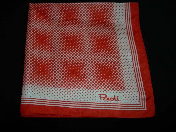 Vintage Paoli Red & White Polka Dot Scarf