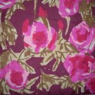 Vera Neumann Large Abstract  Pink Roses On A Purple Background
