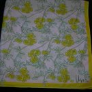 Vintage Vera Neumann Yellow Flowers on Pink 25 X 25 Square Scarf