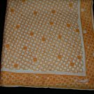 Vintage Burmel Abstract Pale Peach Print Square Scarf