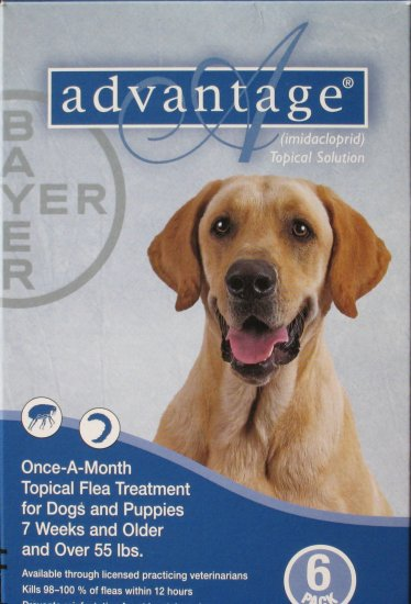 Advantage for Dogs 55 lbs and over 6 mo supply US, EPA Approved Product