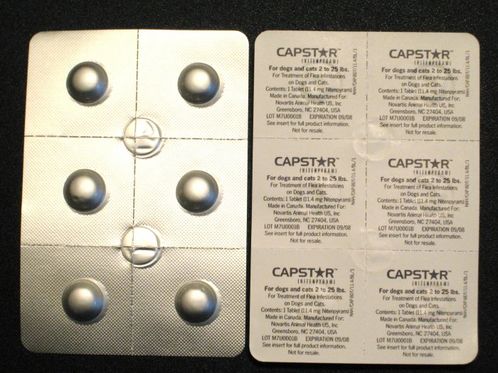 CAPSTAR Flea Control Tablets for Cats, Dogs 2-25 lbs 12 Tablets