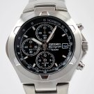 SEIKO SPORTS BLACK DIAL CHRONO WR100M DATE WATCH SNA155