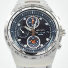 Seiko Sports Navy Blue Dial Chrono WR100m Watch SNAA83