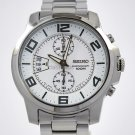 Seiko Sport Chrono White Grey Big Display WR100m SNN171
