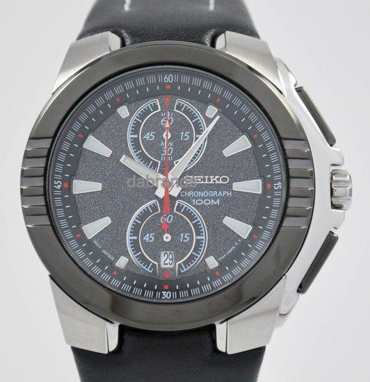 Seiko Sports Gray Dial Chrono WR100m Date Watch SNN147