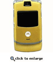 Motorola RAZR V3 Gold Unlocked GSM Cell Phone