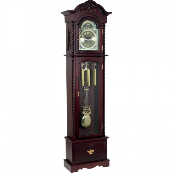 Edward Meyer� Grandfather Clock with Beveled Glass