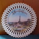 GERMAN SOUVENIR CHINA LACE EDGE PLATE BLACKPOOL PROMENADE