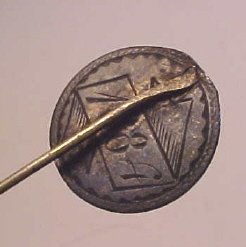 1884 SILVER DIME LOVE TOKEN MADE IN TO STICK PIN