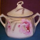 RS PRUSSIA CHINA TEA CRACKER JAR POPPY AND GOLD WHEAT