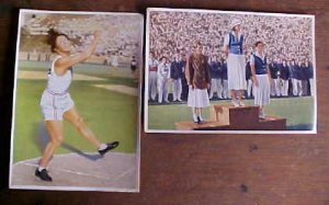 LARGE COLOR 1936 GERMAN OLYMPIC PROPAGADA CARDS