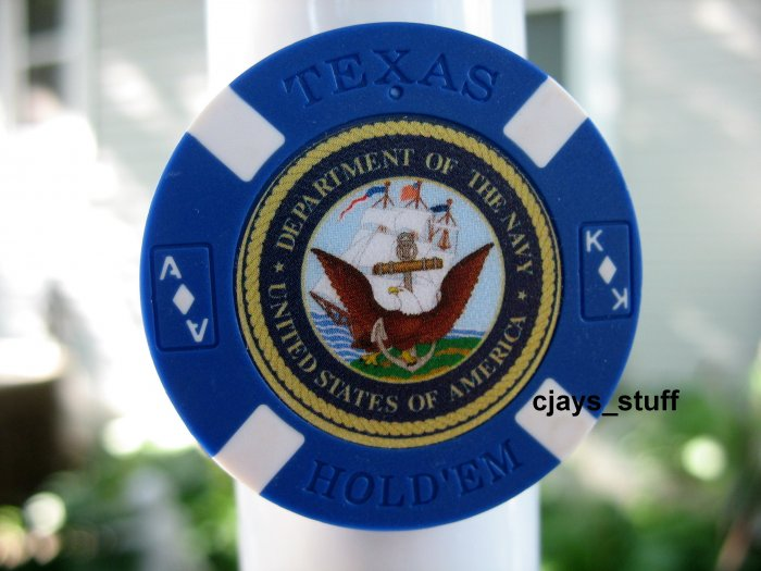 MILITARY NAVY EAGLE POKER CHIP FRIDGE MAGNET STRONG!