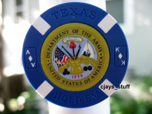 MILITARY ARMY POKER CHIP FRIDGE MAGNET STRONG!