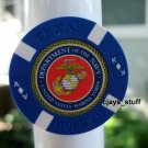 MILITARY NAVY MARINES POKER CHIP FRIDGE MAGNET STRONG!