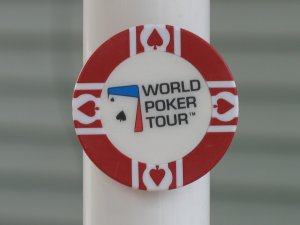 WPT WORLD POKER TOUR POKER CHIP FRIDGE MAGNET STRONG! RED