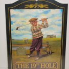 19TH HOLE GOLF PBG PUB BAR HOME OFFICE WOOD SIGN NEW