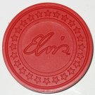 RED ELVIS SIGNATURE POKER CHIP MAGNET STRONG FOR FRIDGE OR ANYWHERE