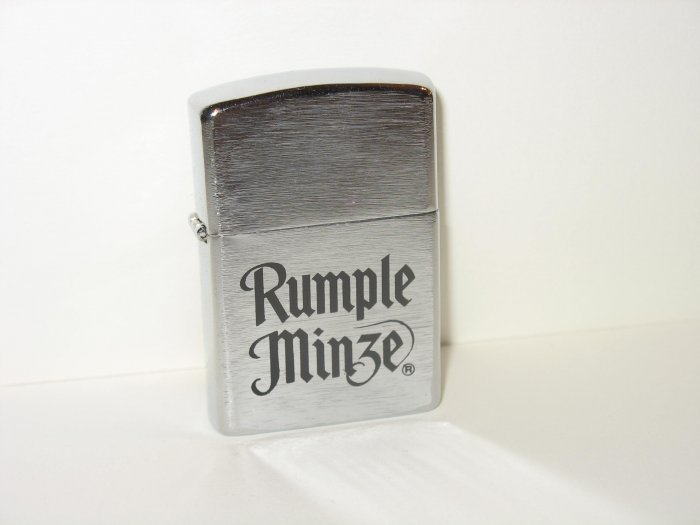 RUMPLE MINZE SILVER FUEL ACTA LIGHTER NIB NOT FIRED