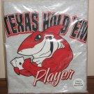 Texas Hold 'em Poker T-Shirt Men's XL  Gray Red Shark Aces New!