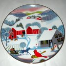 Christmas Morning Betsey Bates 1980 Collector Plate World book