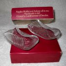 2 RETRO Lindshammar Sweden Glass Napkin Holder Ashtray