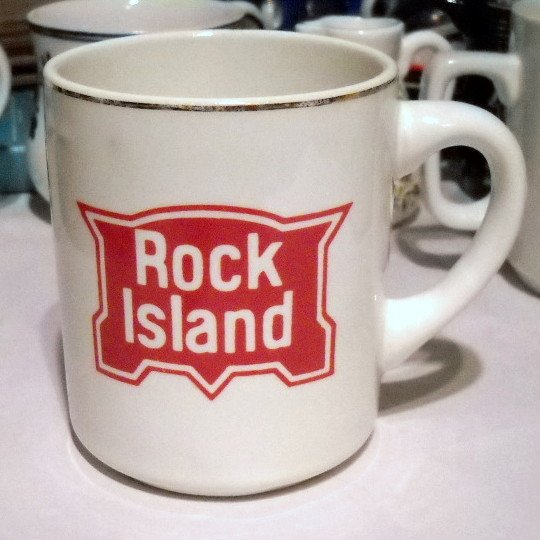 Vintage ROCK ISLAND Railroad Coffee Mug Cup Ceramic