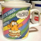 Vintage '78 Retro GARFIELD Birthday Coffee Cup Mug CAKE