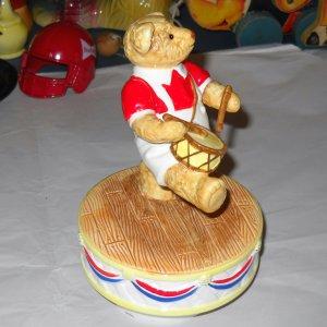 1984 Bialosky & Friends Hummelwerk Teddy Bear Music Patriotic Drummer Yankee Doodle Dandy