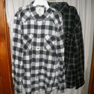 2 NWT Plaid Men's XL LS Shirts Button Down American Eagle St Johns Bay Youth Skater Dress