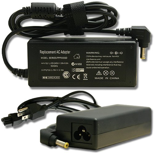 AC Power Supply Charger for Gateway Solo 1100 2100 2500
